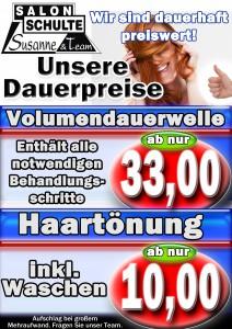 Dauerpreise DW Tönung