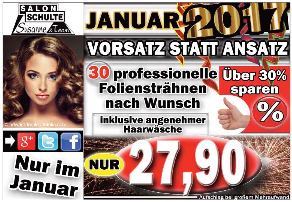 Salon Schulte Angebot Januar 30 Foliensträhnen 27,90€